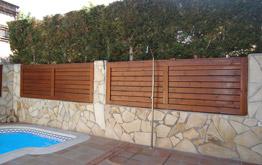 Barandillas de madera for Barandillas de madera para jardin