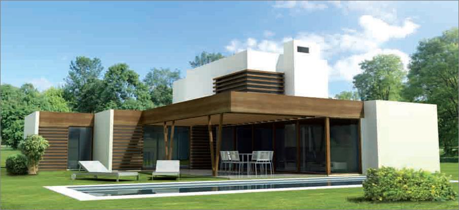 casas de madera de diseo moderno